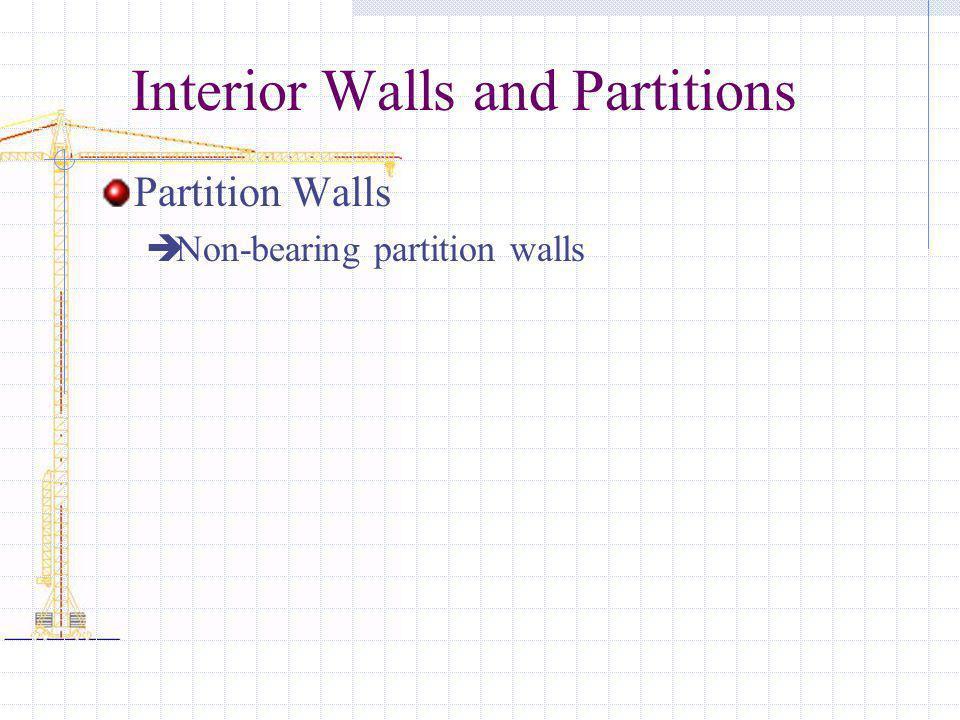 Interior Walls and Partitions Partition Walls Non-bearing partition walls