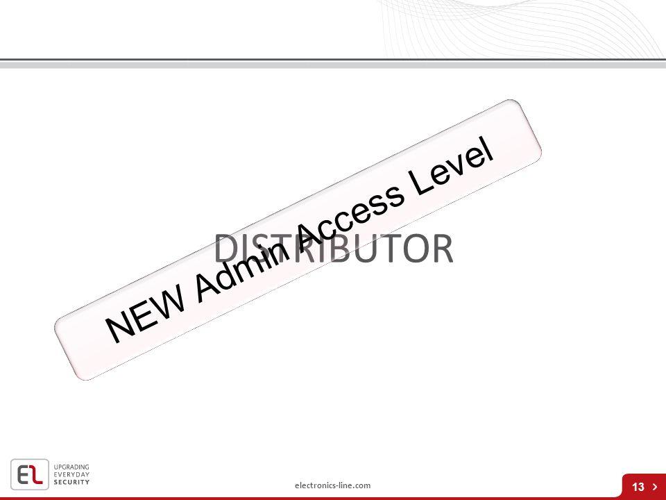 electronics-line.com DISTRIBUTOR 13 NEW Admin Access Level