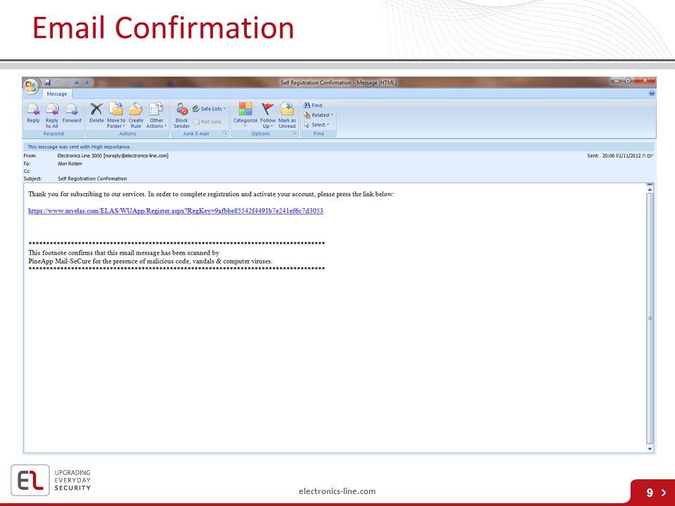 electronics-line.com Email Confirmation 9