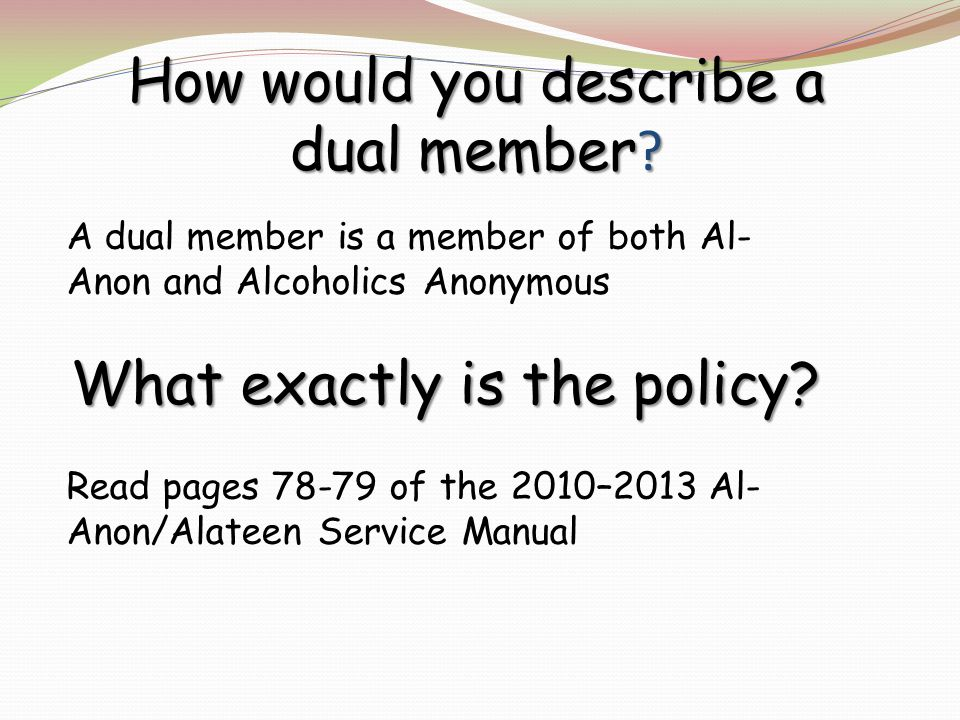 How would you describe a dual member .