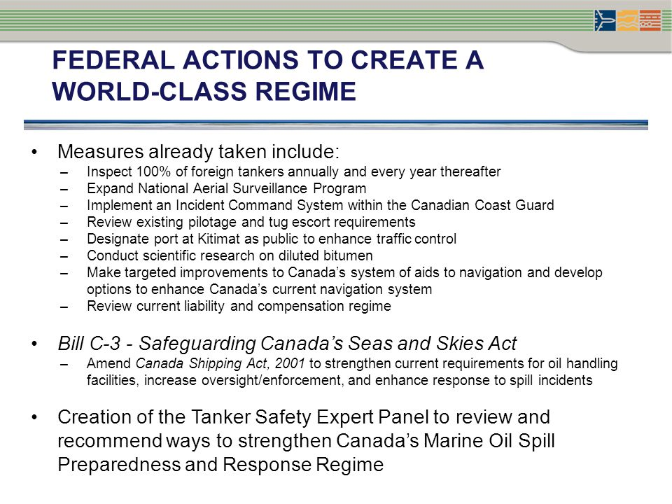 TANKER SAFETY EXPERT PANEL: CONTEXT Panel mandate: to review and assess Canadas current Ship-Source Oil Spill Preparedness and Response regime, and propose new ways to enhance it Phase I: Regime South of 60° (completed November 2013) Phase II: Regime for the Arctic (North of 60°) and Hazardous and Noxious Substances (September 2014) Over the Spring and Summer 2013, the Panel conducted public engagement, research and analysis on the regime South of 60° 5