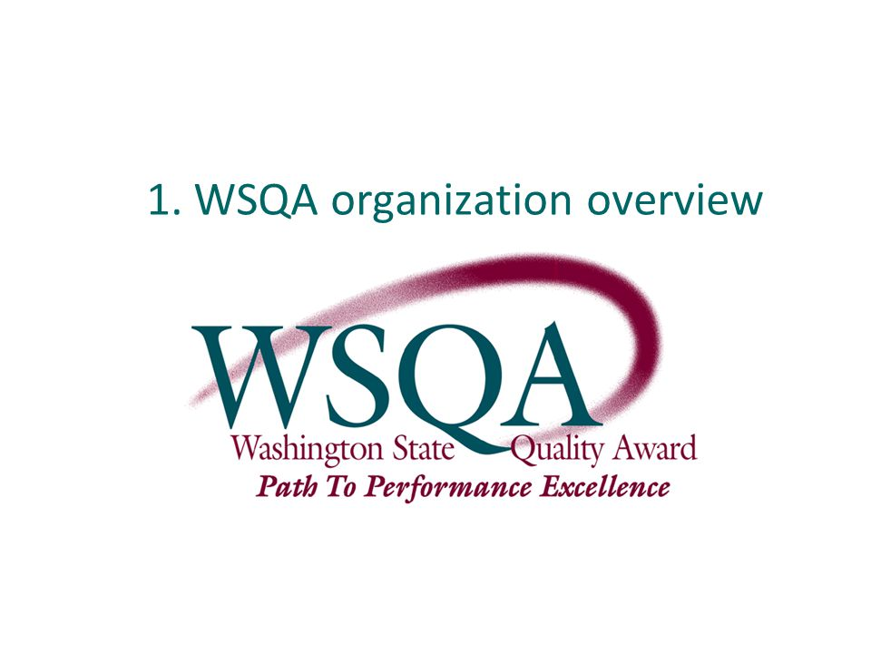1. WSQA organization overview