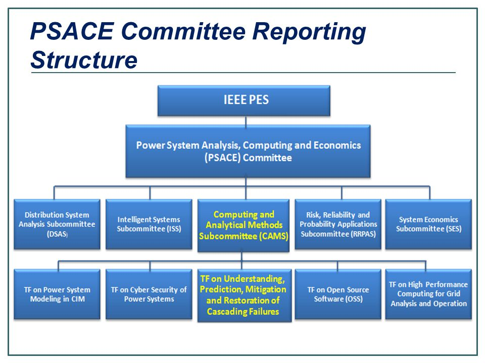 PSACE Committee Reporting Structure