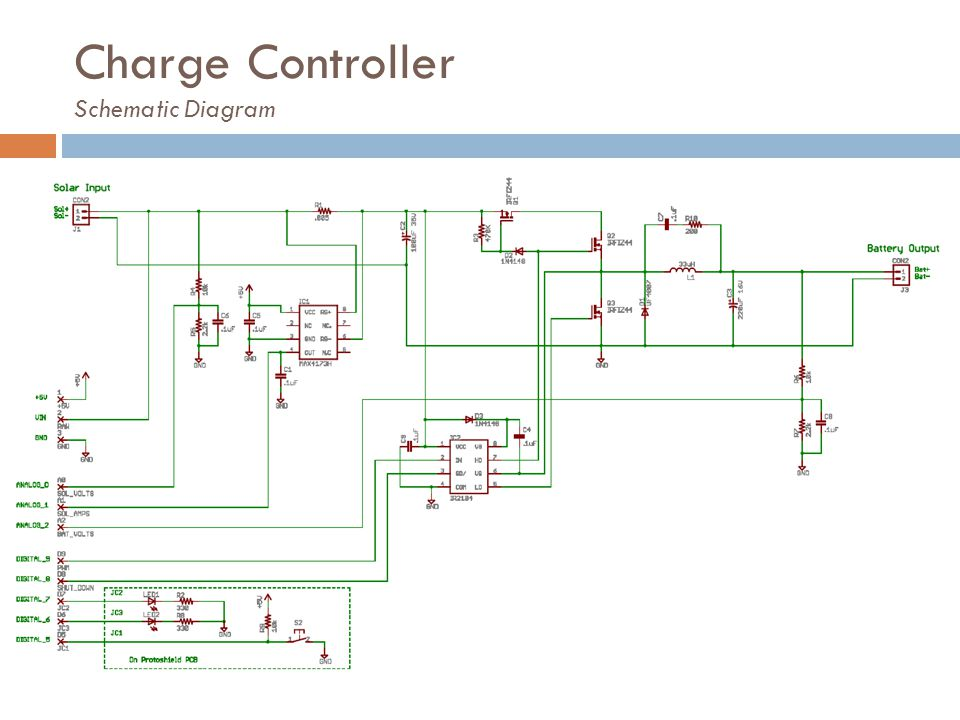 Charge Controller Schematic Diagram