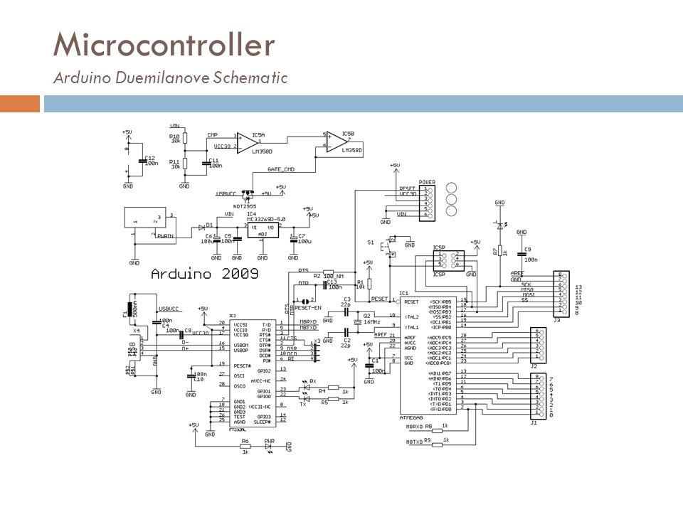 Microcontroller Arduino Duemilanove Schematic