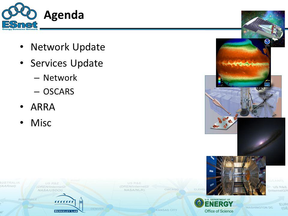 Agenda Network Update Services Update – Network – OSCARS ARRA Misc