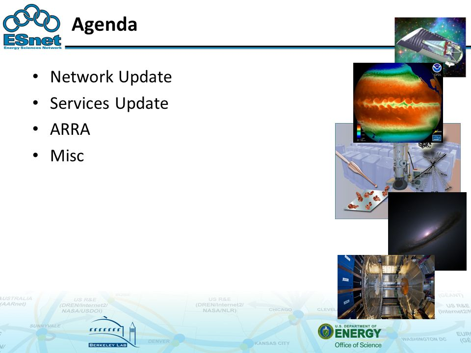 Agenda Network Update Services Update ARRA Misc