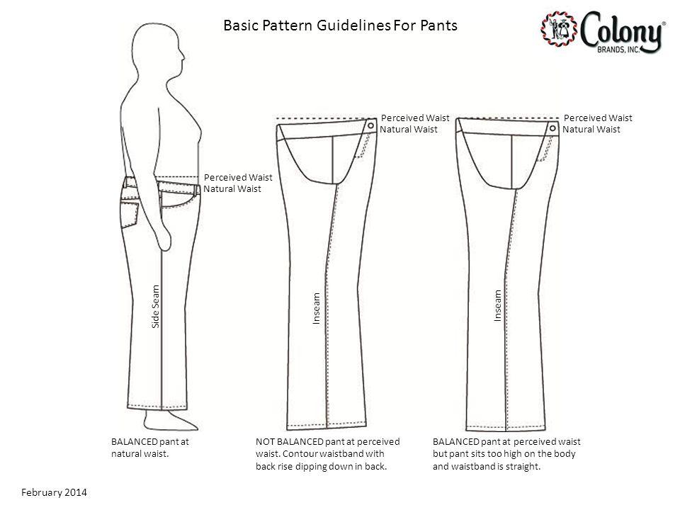 February 2014 BALANCED pant at natural waist.