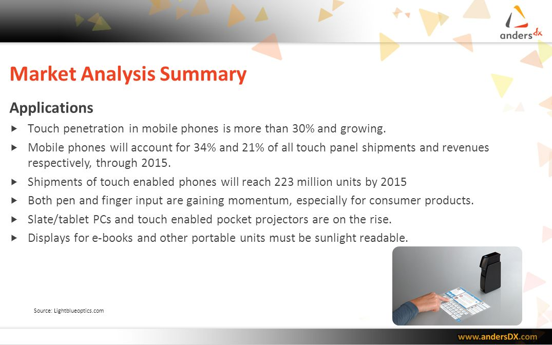 Market Analysis Summary Value Chain Many suppliers from varying industries are moving to projected capacitive.