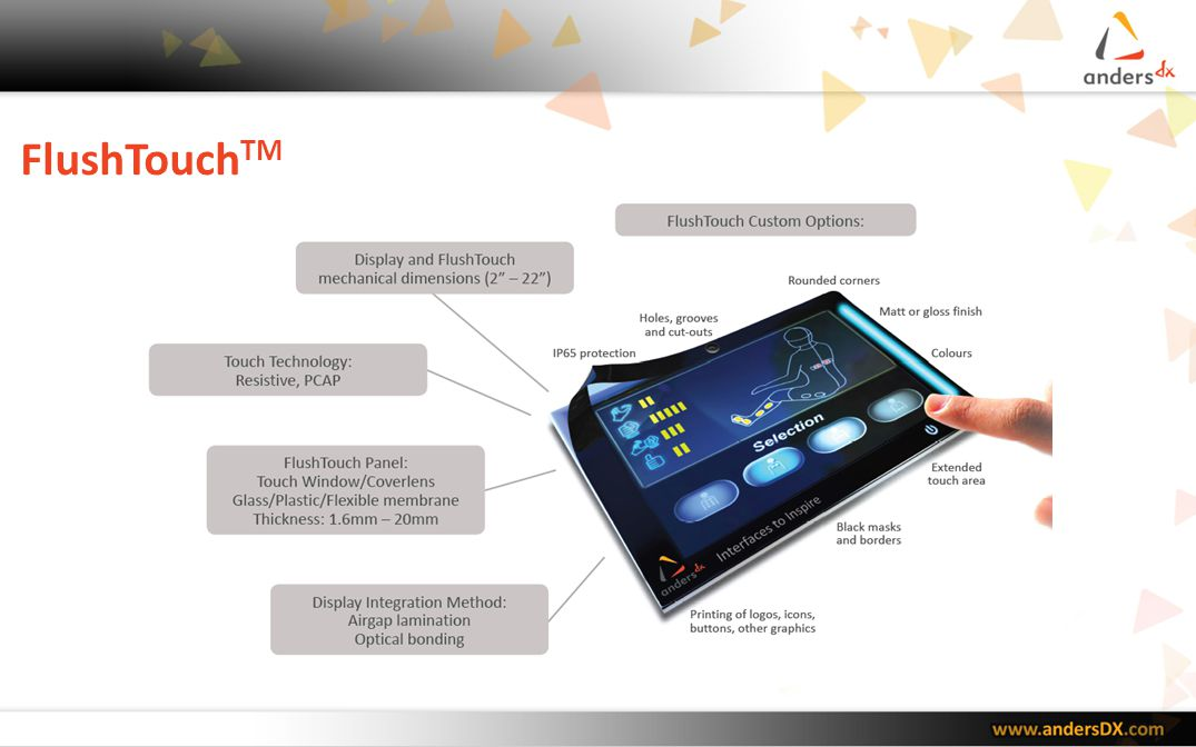 Summary The global touch market has hit the tipping point for exponential growth Driven by consumer devices, the trend towards touch interfaces is now equally applicable for medical, industrial, military and other non-consumer applications.