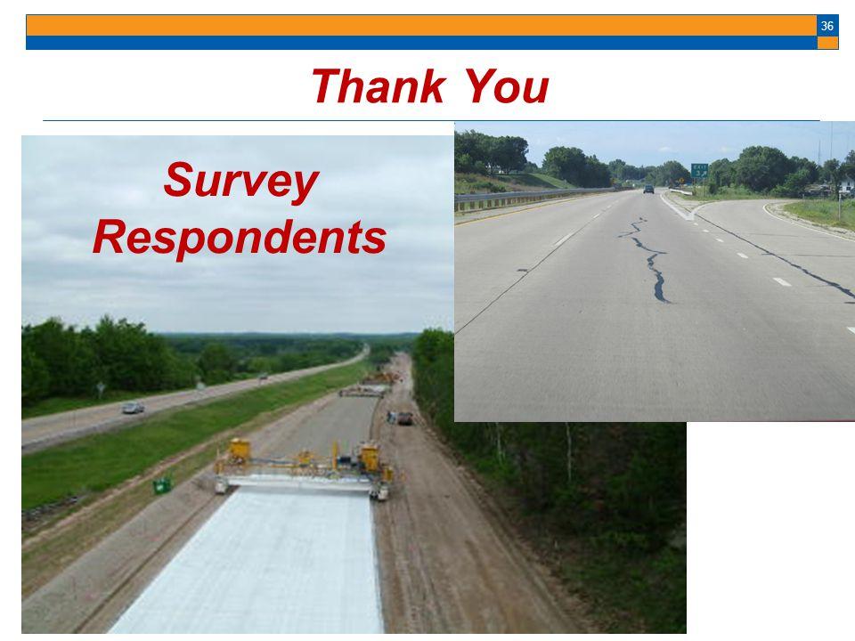 36 Thank You Survey Respondents