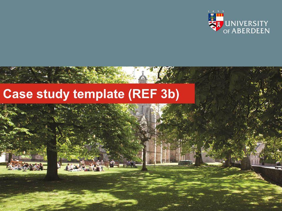 Case study template (REF 3b)
