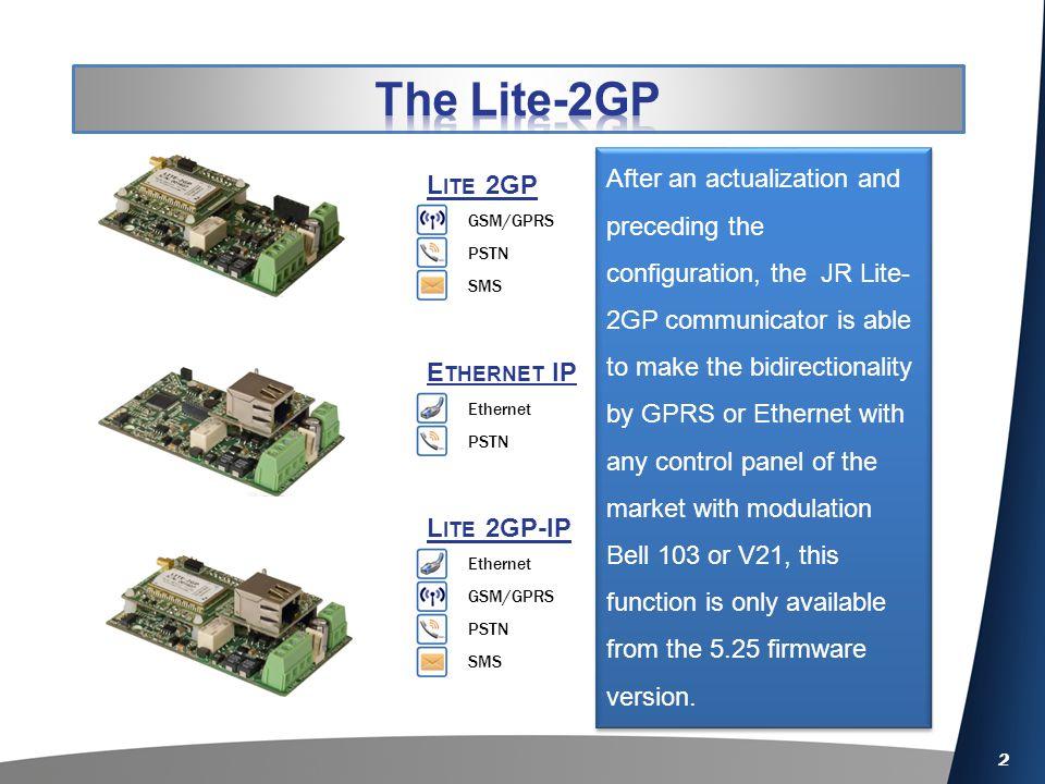 2 L ITE 2GP-IP E THERNET IP L ITE 2GP GSM/GPRS PSTN SMS Ethernet PSTN Ethernet GSM/GPRS PSTN SMS After an actualization and preceding the configuratio