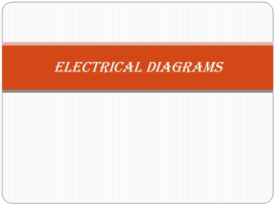 INTRODUCTION Electrical diagrams are drawings in which lines, symbols, letter and number combinations are used to represent electrical circuits.
