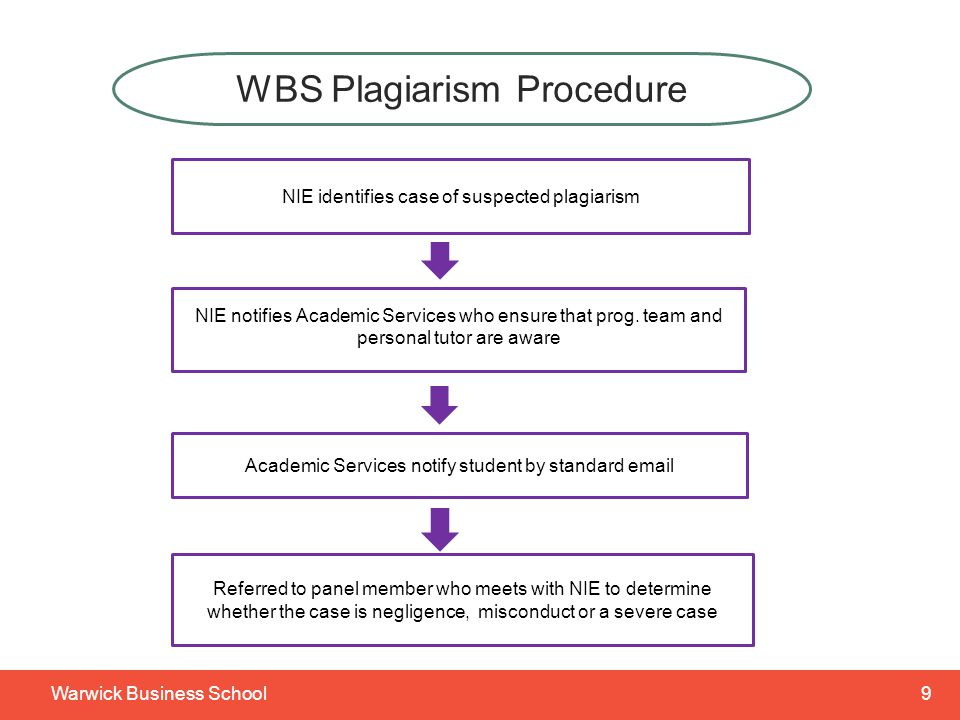 10Warwick Business School NEGLIGENCE Work has been improperly referenced through the incompetent or careless academic practices of the student When considering the penalty, an assessment will be made of the stage the student has reached in their studies NIE will be directed to apply an appropriate penalty Student will be advised to seek further guidance on correct referencing techniques