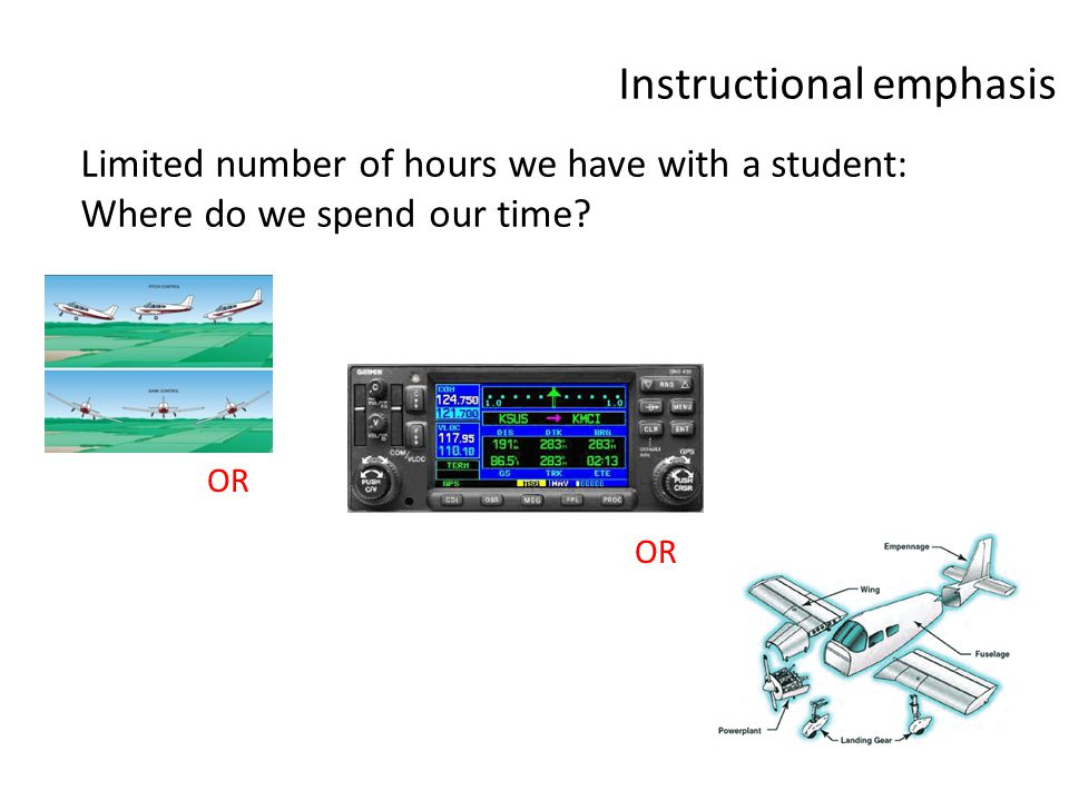 Instructional emphasis OR Limited number of hours we have with a student: Where do we spend our time