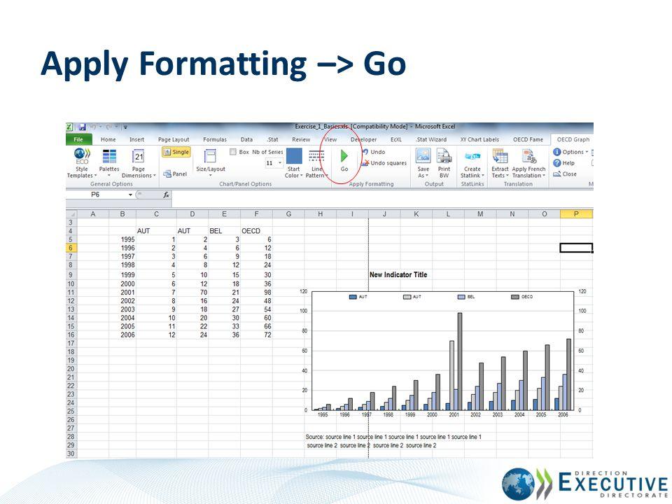 Apply Formatting –> Go