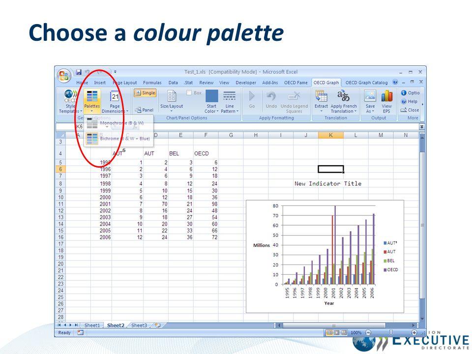 Choose a colour palette