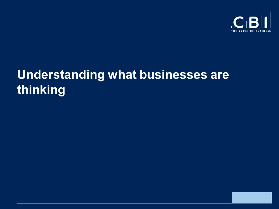 Understanding what businesses are thinking