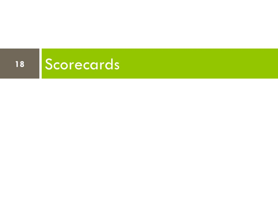 Scorecards 18