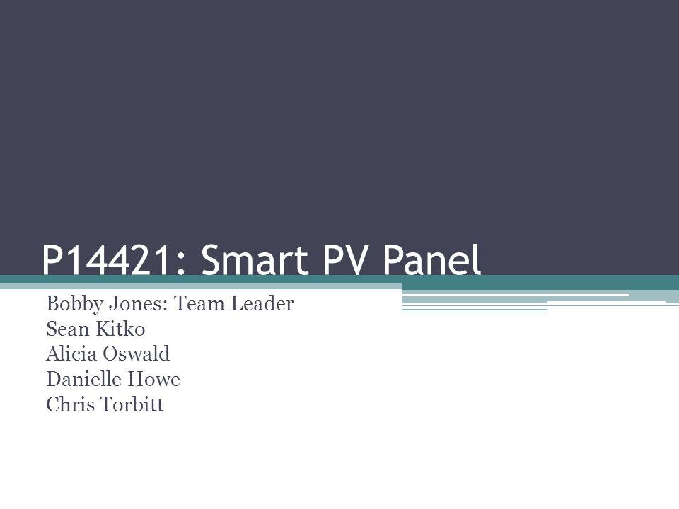 P14421: Smart PV Panel Bobby Jones: Team Leader Sean Kitko Alicia Oswald Danielle Howe Chris Torbitt