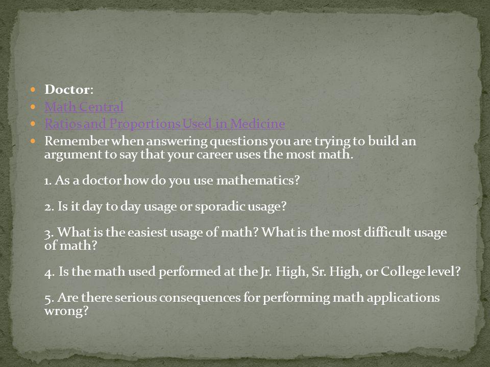 Lawyer: How do lawyers use math.
