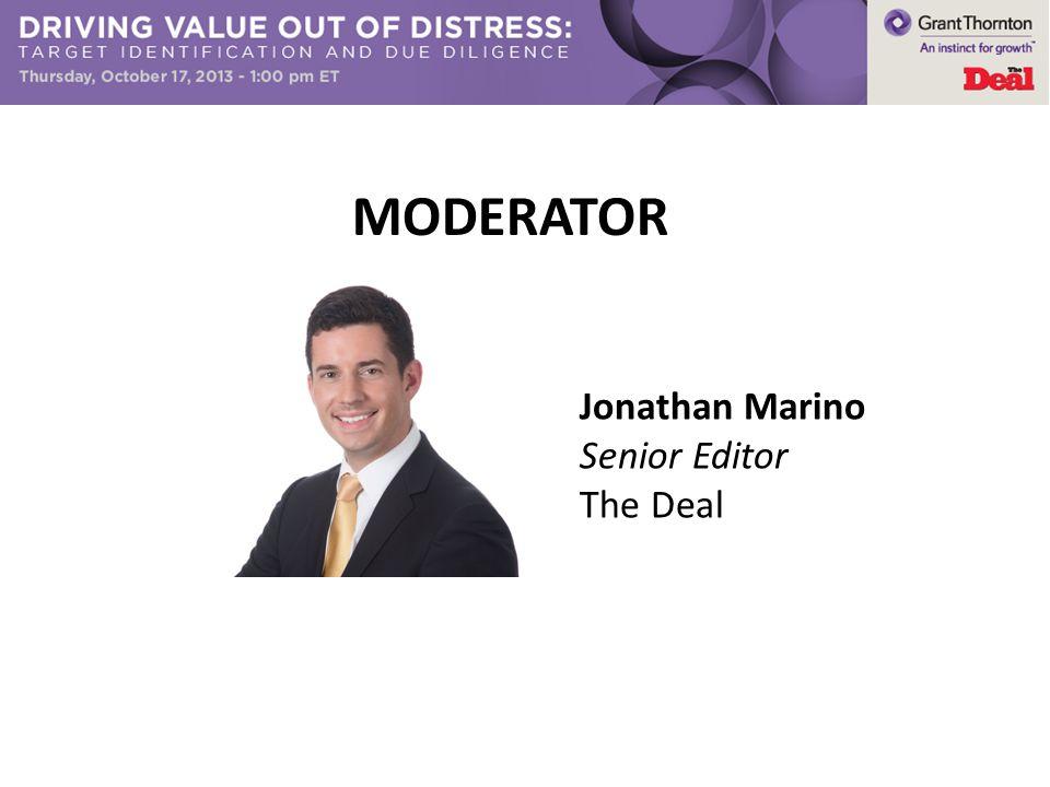 Jonathan Marino Senior Editor The Deal MODERATOR