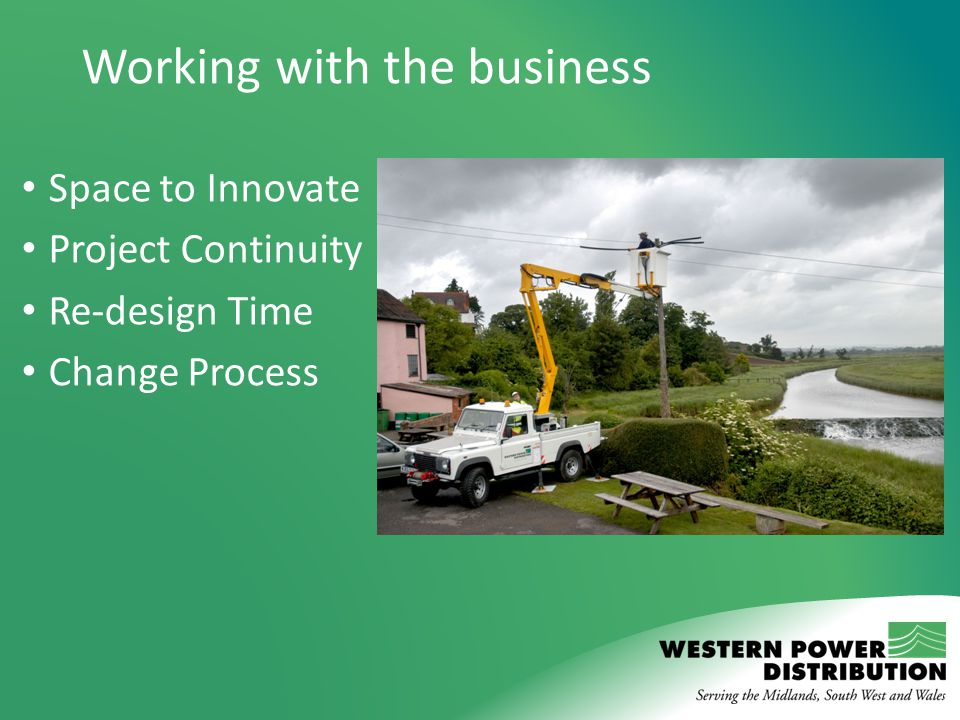 Working with the business Space to Innovate Project Continuity Re-design Time Change Process