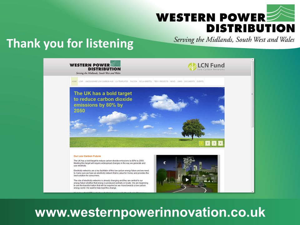 www.westernpowerinnovation.co.uk Thank you for listening