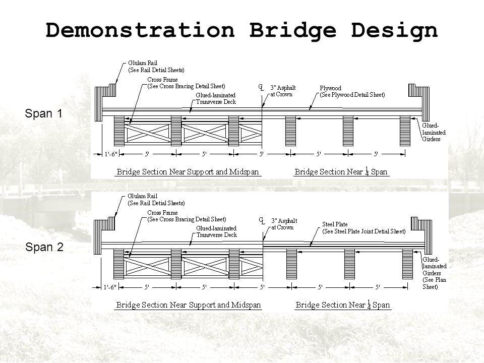 Demonstration Bridge Design Span 1 Span 2