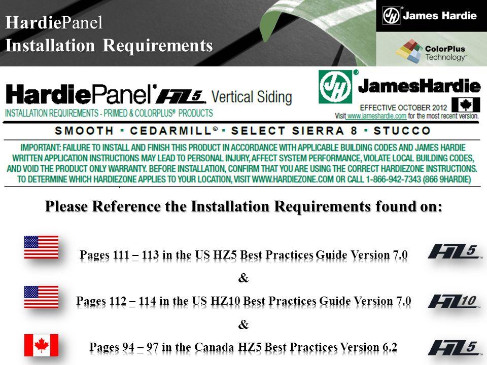 Text goes here Agenda HardiePanel Installation Requirements