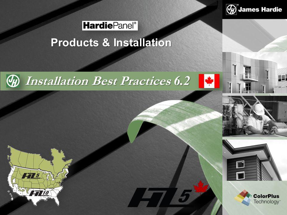 Installation Best Practices 6.2 Products & Installation
