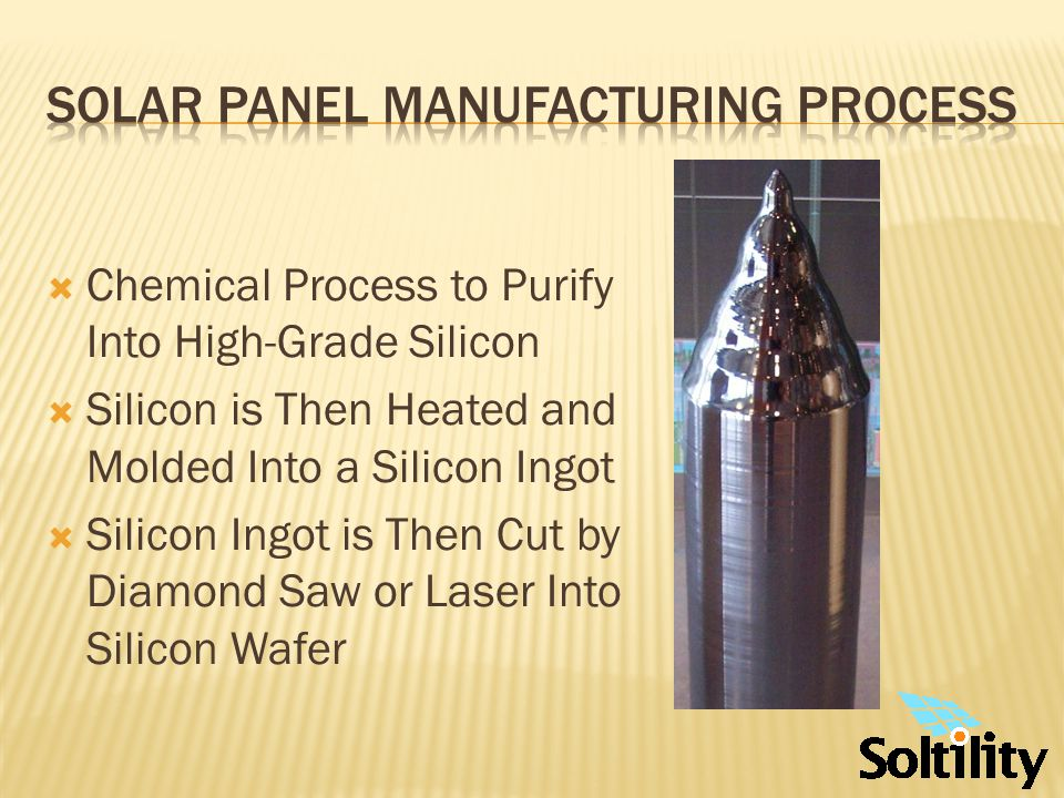 Wafer is then Transformed into a Solar Cell by Chemical Processing and Addition of Electrical Contacts