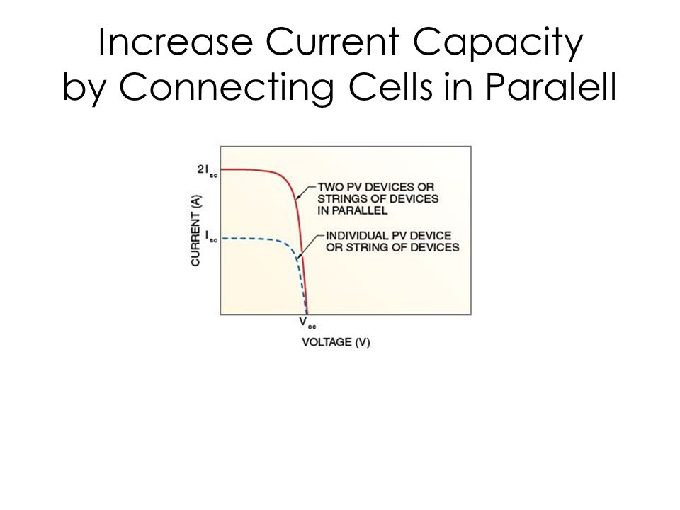 Increase Current Capacity by Connecting Cells in Paralell