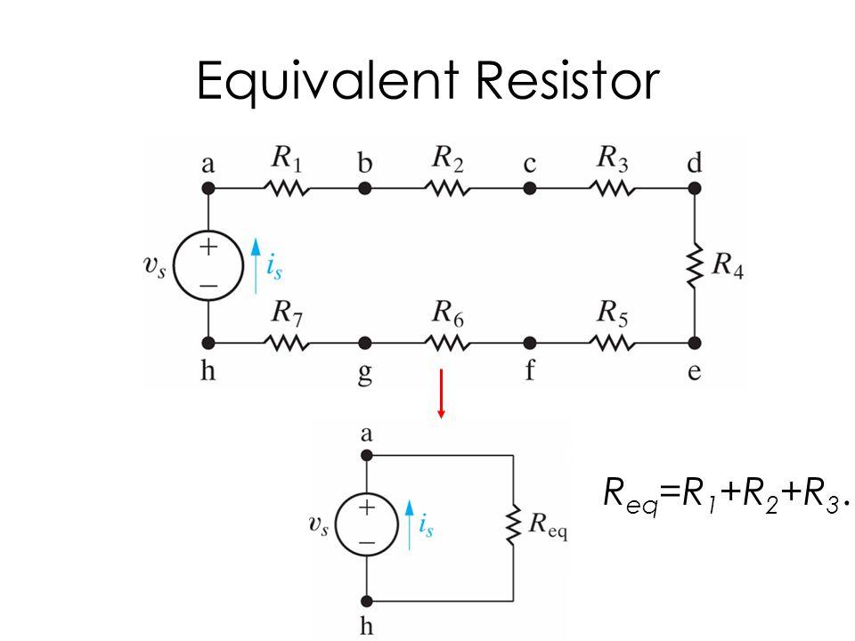 Equivalent Resistor R eq =R 1 +R 2 +R 3 ….