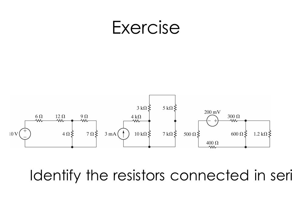 Resistors in Parallel Parallel-connected circuit elements have the same voltage across their terminals