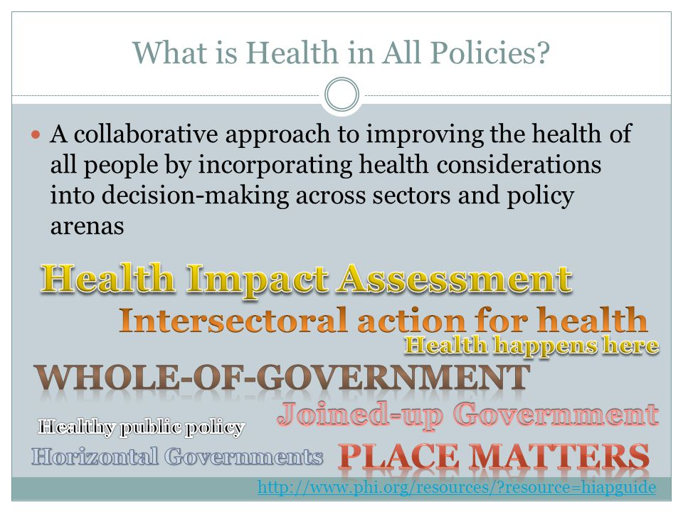 What is Health in All Policies.