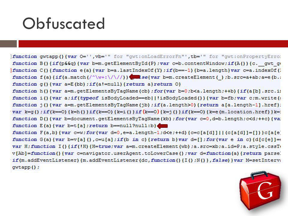 Obfuscated