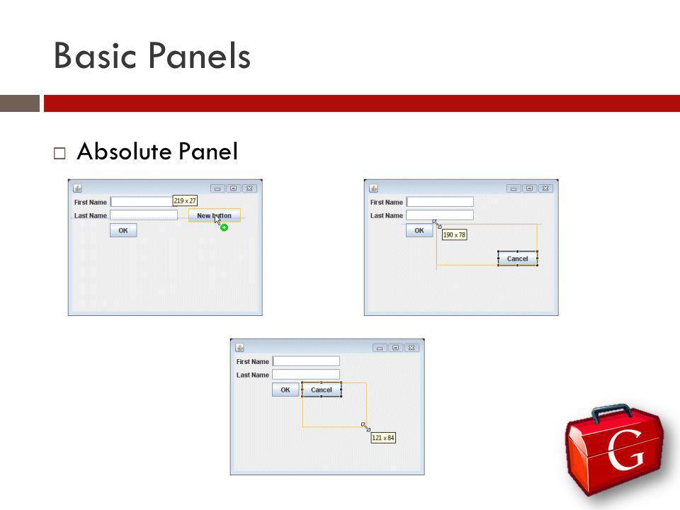 Basic Panels Absolute Panel
