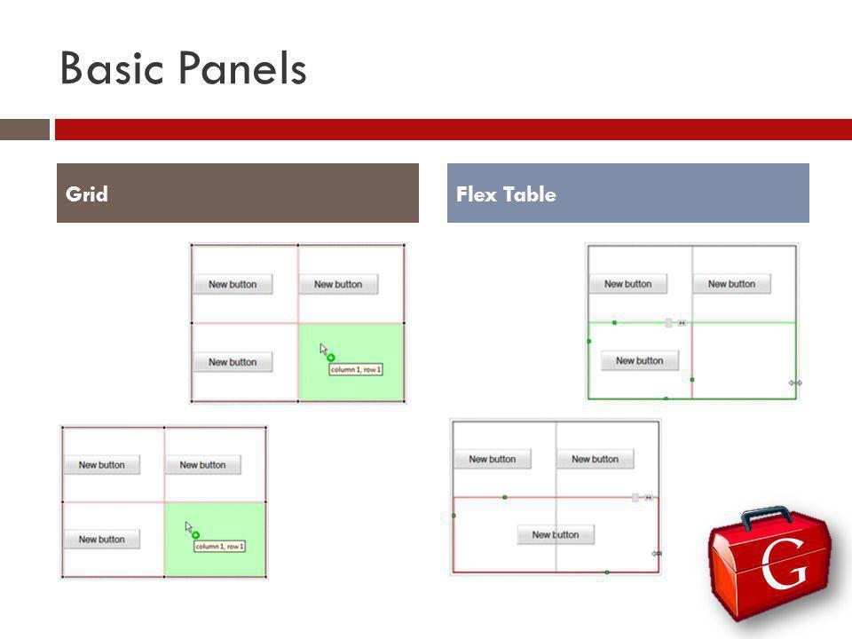Basic Panels GridFlex Table