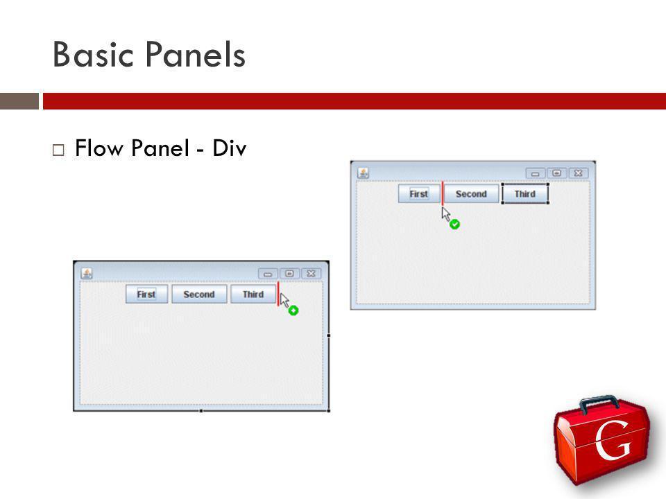 Basic Panels Flow Panel - Div