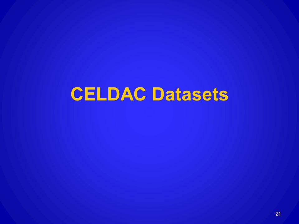 CELDAC Datasets 21