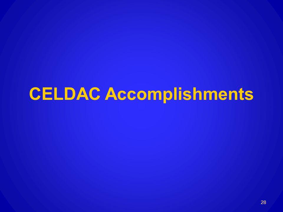 CELDAC Accomplishments 28