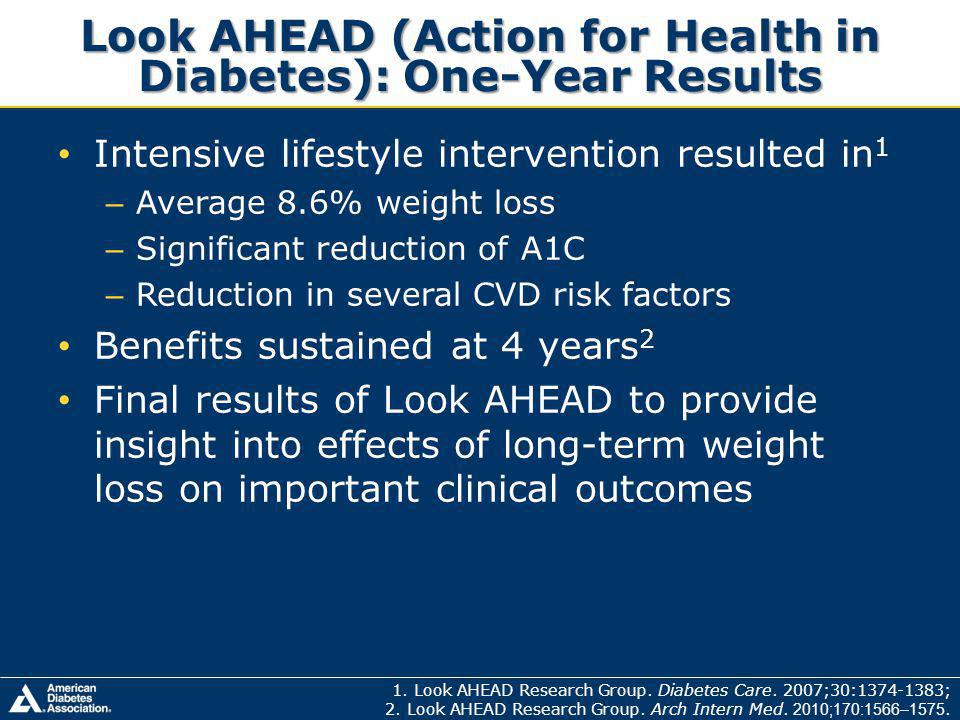 Look AHEAD (Action for Health in Diabetes): One-Year Results 1.