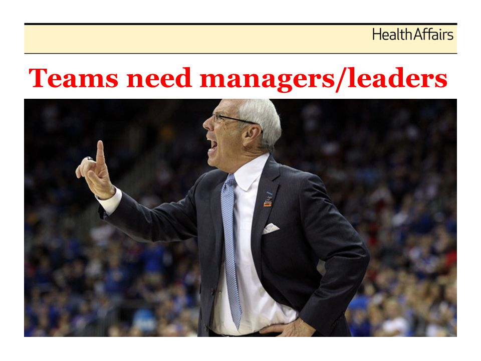 Teams need managers/leaders