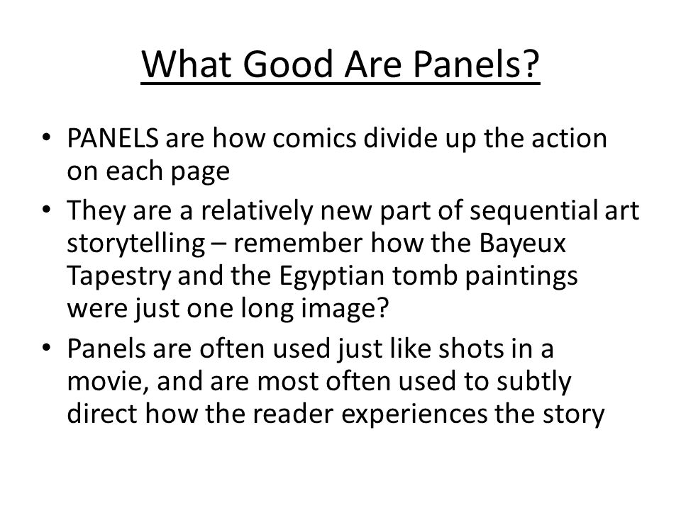 What Good Are Panels.