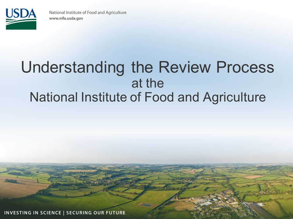 Understanding the Review Process at the National Institute of Food and Agriculture