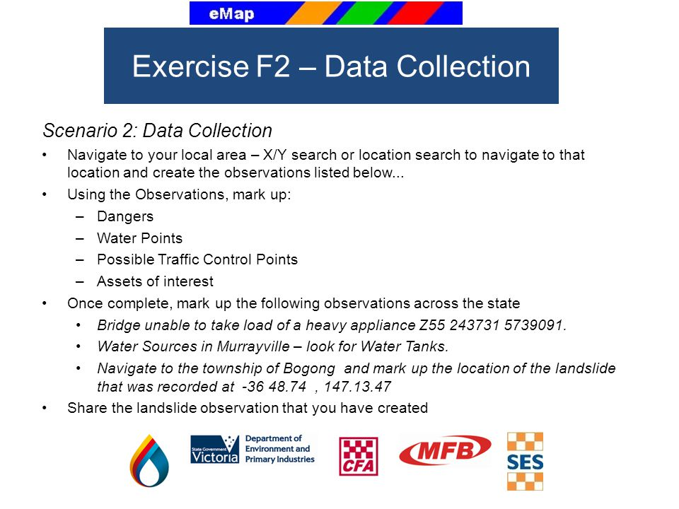 Scenario 2: Data Collection Navigate to your local area – X/Y search or location search to navigate to that location and create the observations liste