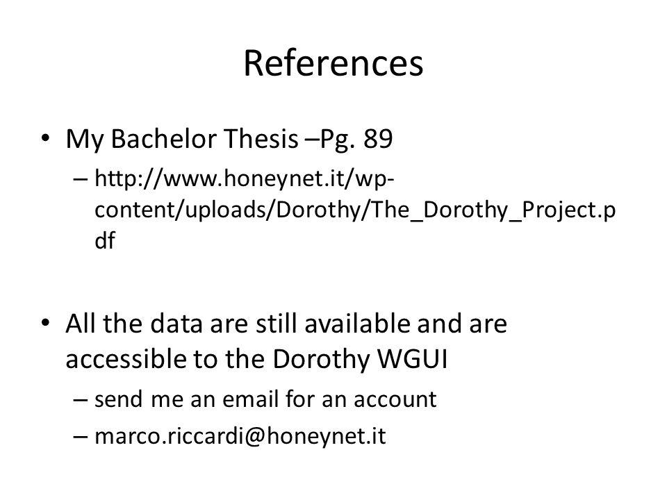 References My Bachelor Thesis –Pg.