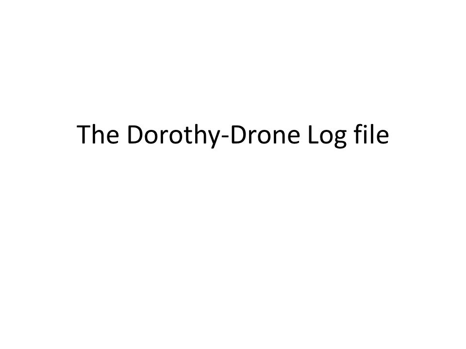 The Dorothy-Drone Log file